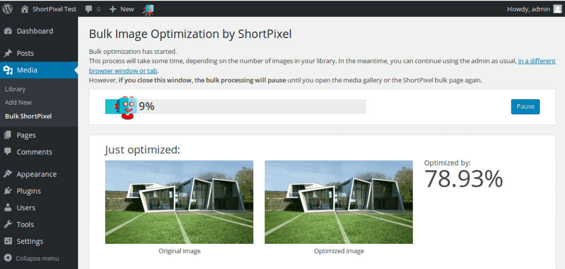ShortPixel WP Plugin: Optimize Your Site's Images