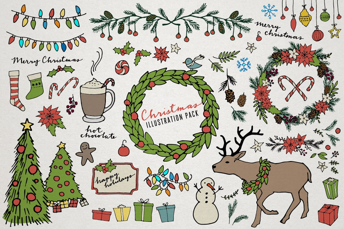 Christmas & Holiday Illustrations
