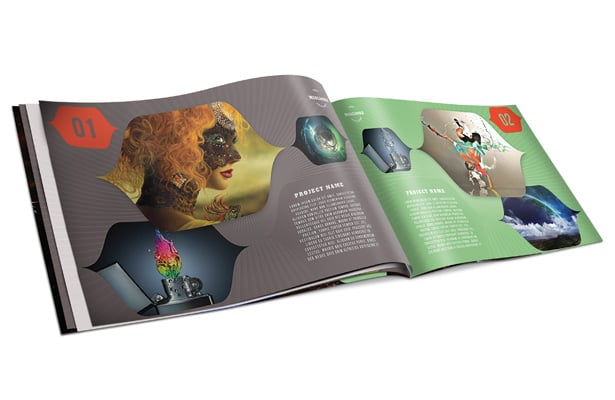 Colorful Portfolio Book Template