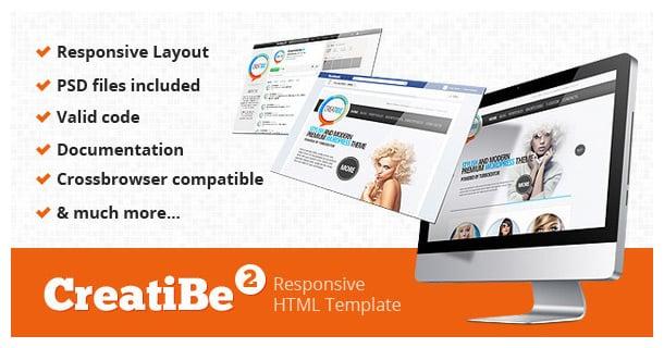 CreatiBe Responsive HTML Template