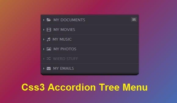 CSS3 Accordion Tree Menu