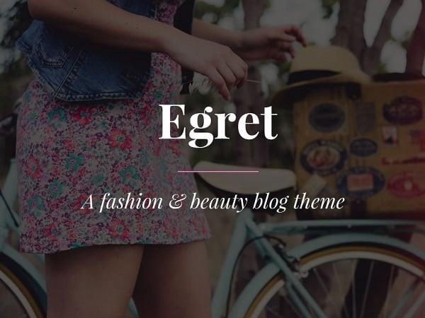 Egret Fashion & Beauty Blog WordPress Theme