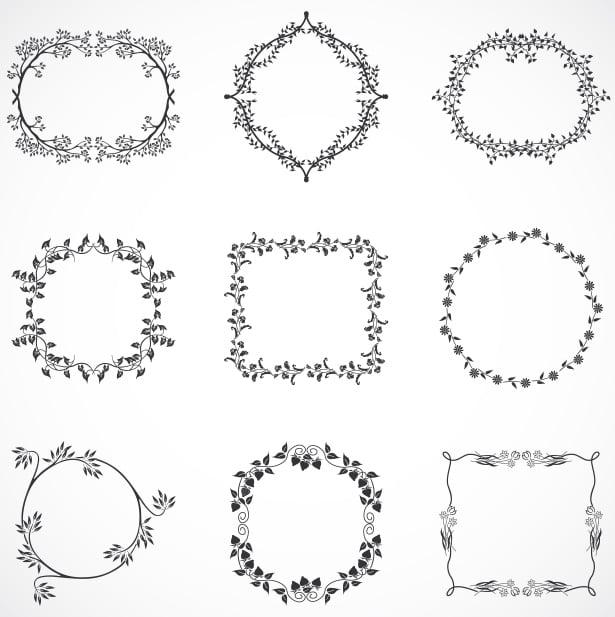 floral-leaf-frames