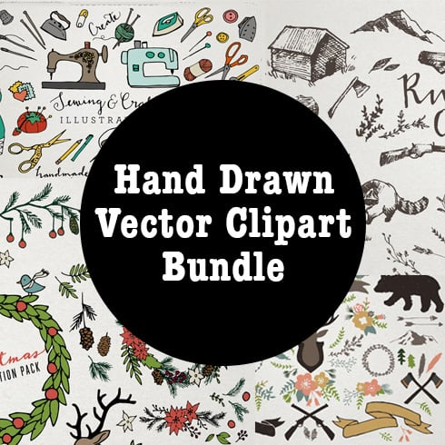 Clipart Bundle. Bestselling Hand Drawn Vector Clipart Bundle - only $24! - ill490