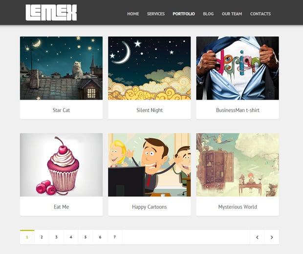 Lemex Responsive Single Page Template