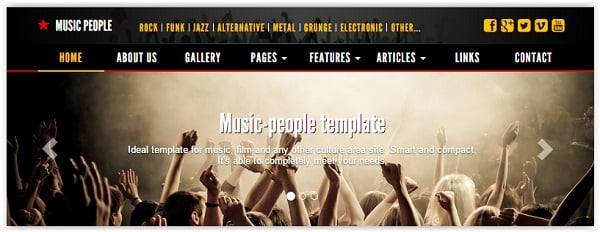 Music People Template