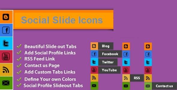 Social Slide Icons