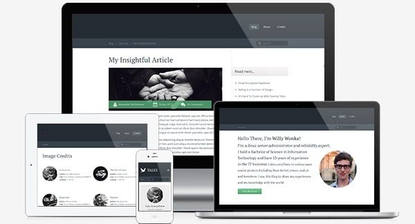 Talks Blog Template