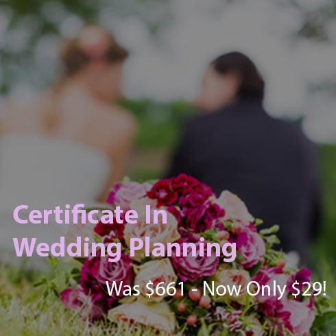 Certificate in Wedding Planning – 96% OFF