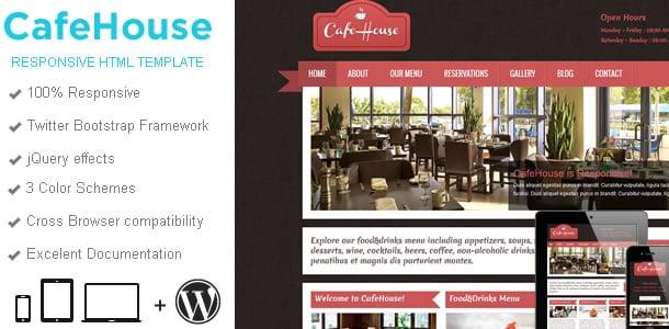 CafeHouse Restaurant WordPress Theme