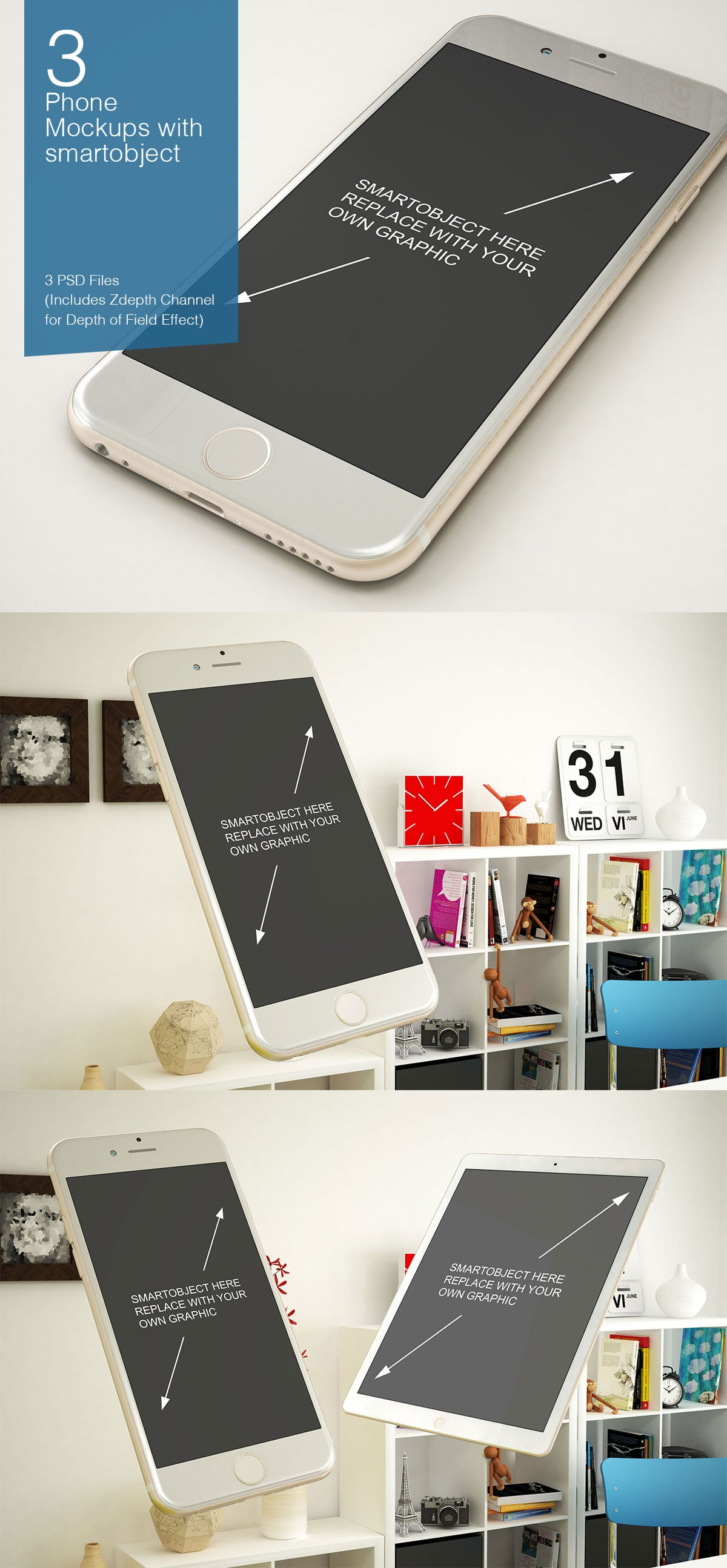 84 PSD Mockups for Apple Devices and Books