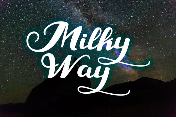 Milky way by amazing font.