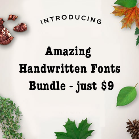 Amazing Handwritten Fonts Bundle - just $9 - 211