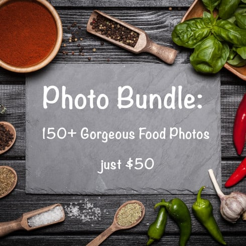 Photo Bundle: 150+ Gorgeous Food Photos – just $50