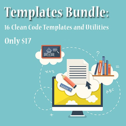 Templates Bundle: 16 Clean Code Templates and Utilities – Only $17