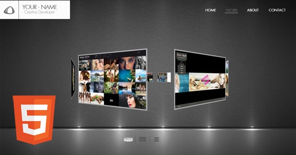 3D Creative Portfolio Html5 Website Template