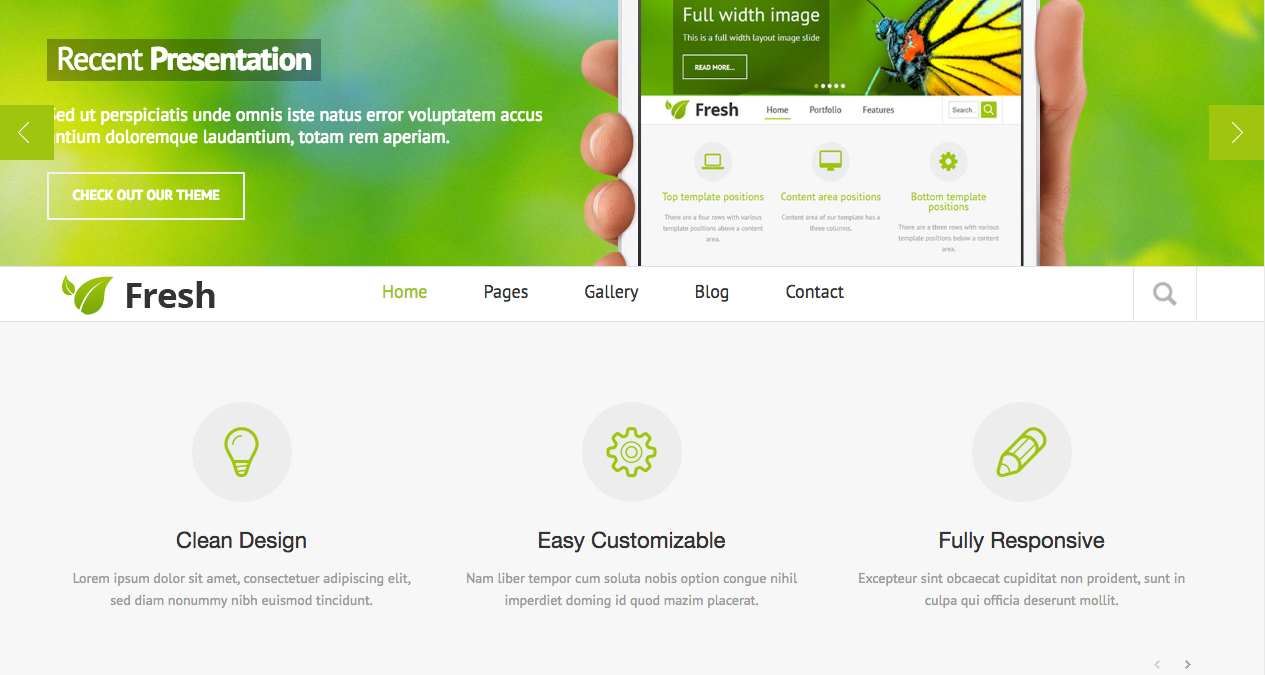 Fresh responsive website template