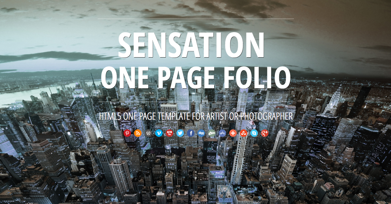 Sensation single page website template