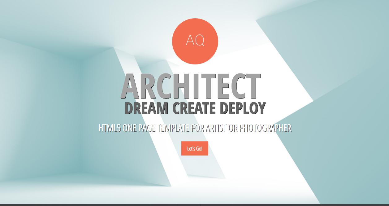 Architect portfolio responsive website template