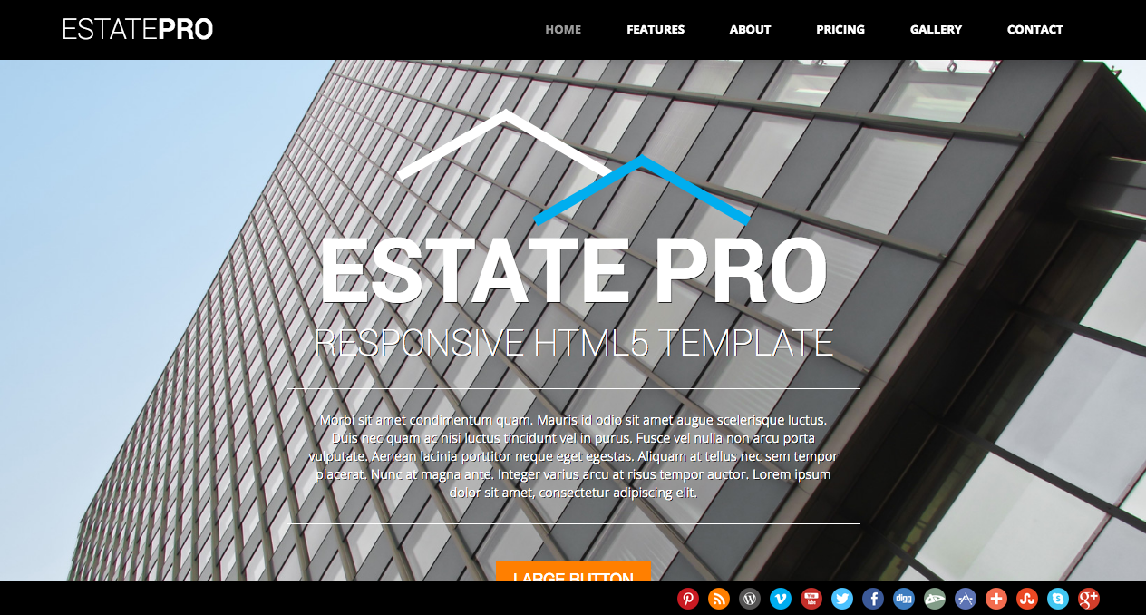 Real estate agent personal page responsive website template