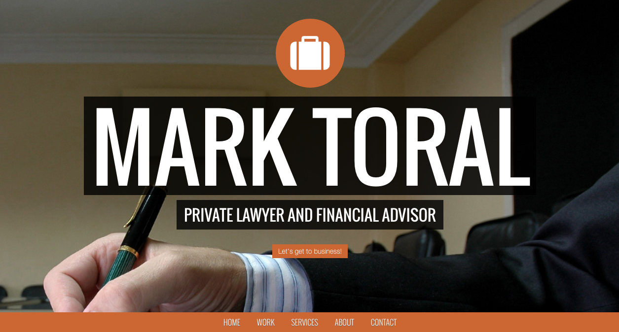 Private lawyer responsive website template