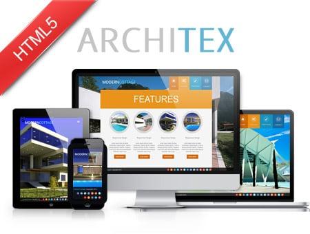 Architex – one page architect portfolio template