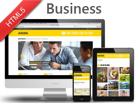 Business – responsive HTML5 template for corporate website
