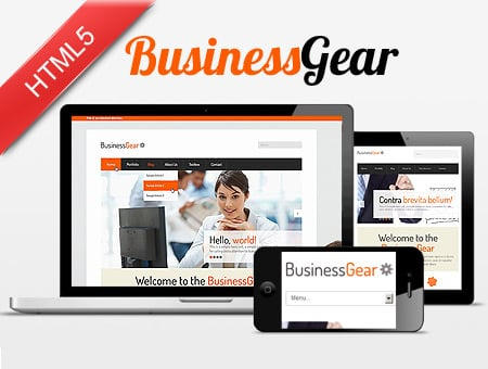 Business Gear – responsive corporate web template