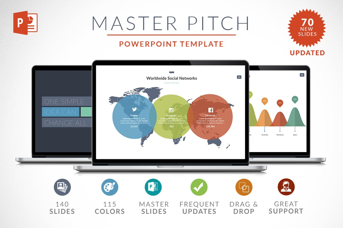 10 best seller powerpoint templates just 29 master for How to create a master template in powerpoint