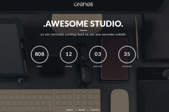 Cronos – Portfolio & Coming Soon Html5 Template