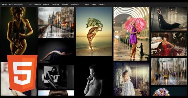 Grid Photo Portfolio Full Html5 Website