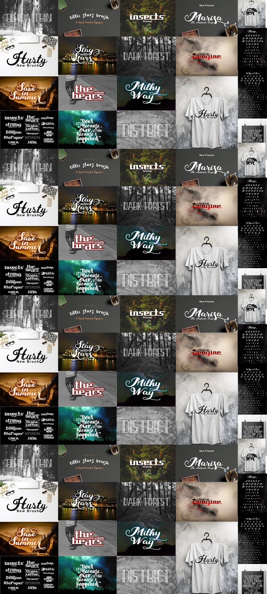 5 Stunning Font Families - cover image.