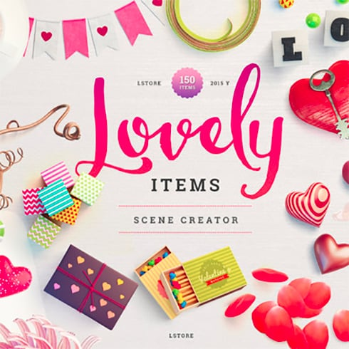Lovely Items Mockup Scene Creator