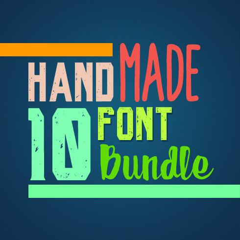 10 Premium HandMade Fonts Bundle - main cover.