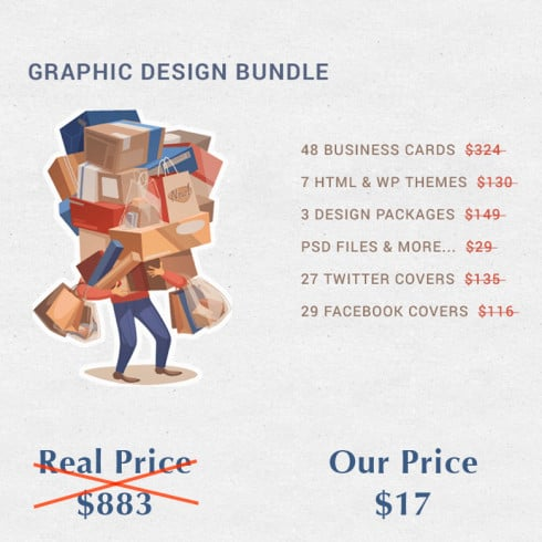 Graphics Design Bundle - only $17 - 87 490x490