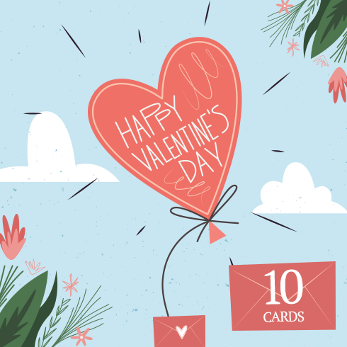 Free St. Valentines Day Postcards - 3png 490x490 3