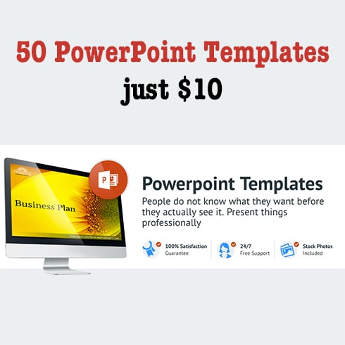 50 PowerPoint Templates – just $10