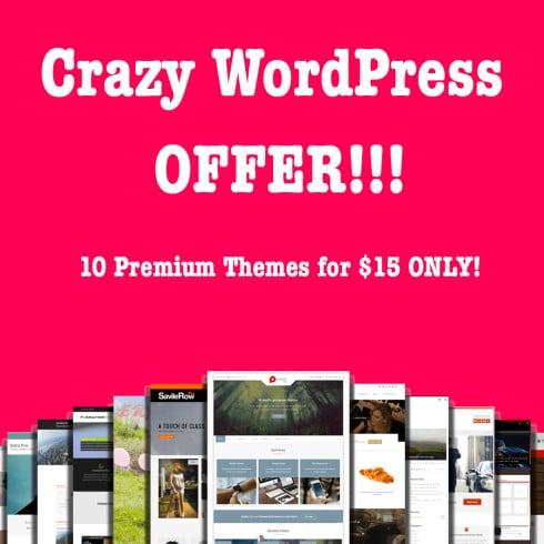 WordPress Bundle: 10 Premium Themes for $15 ONLY!
