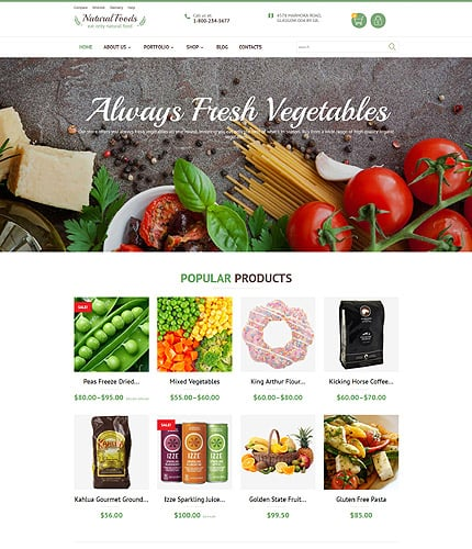 Food Store WooCommerce Template
