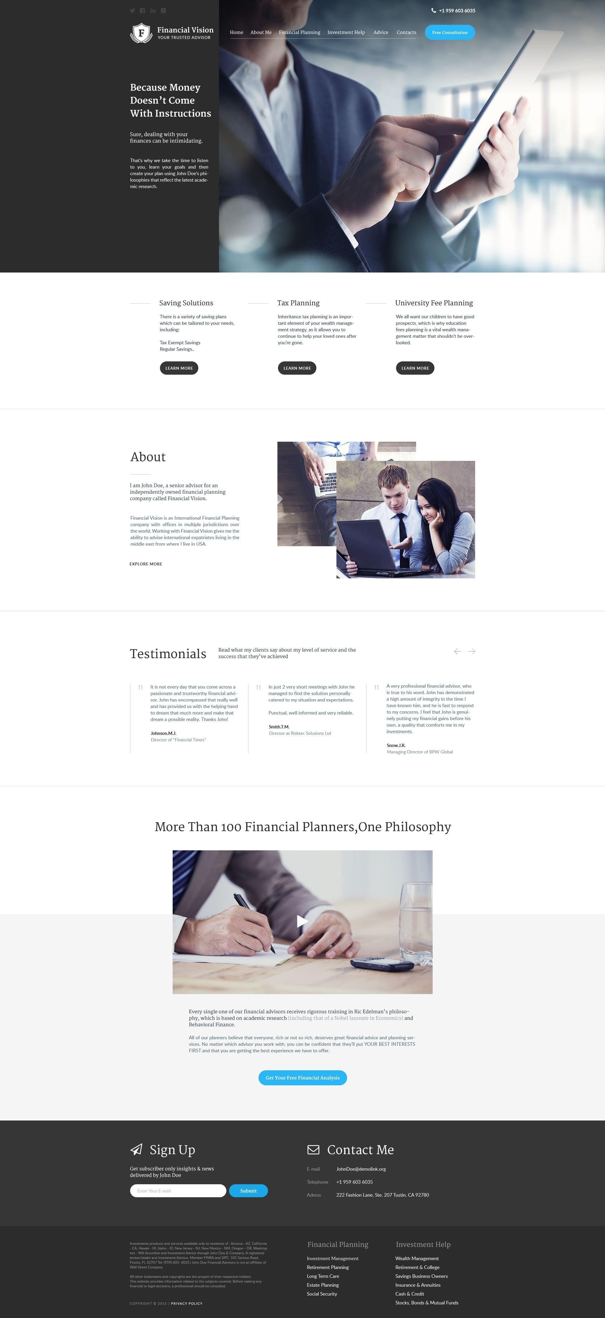 5Financial Vision WordPress Theme