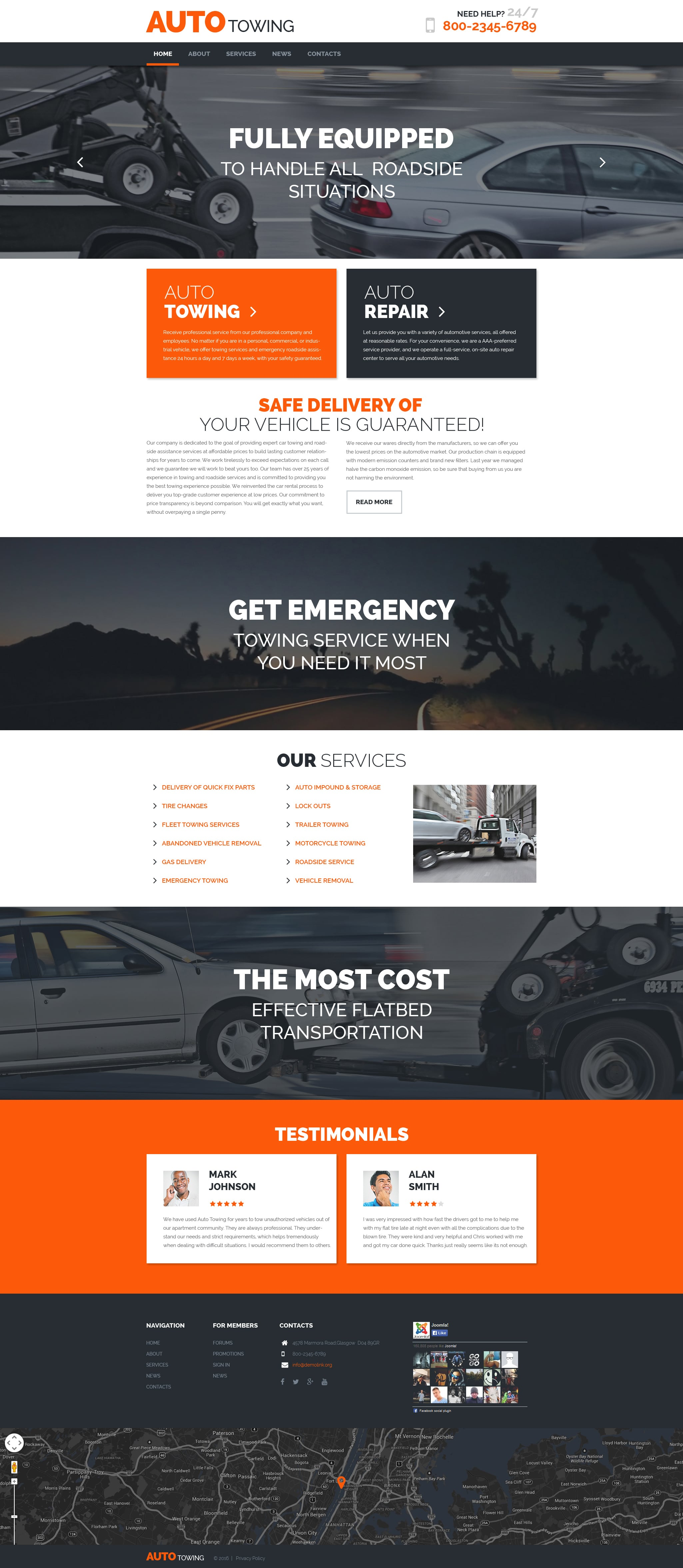 AutoTowing WordPress Theme