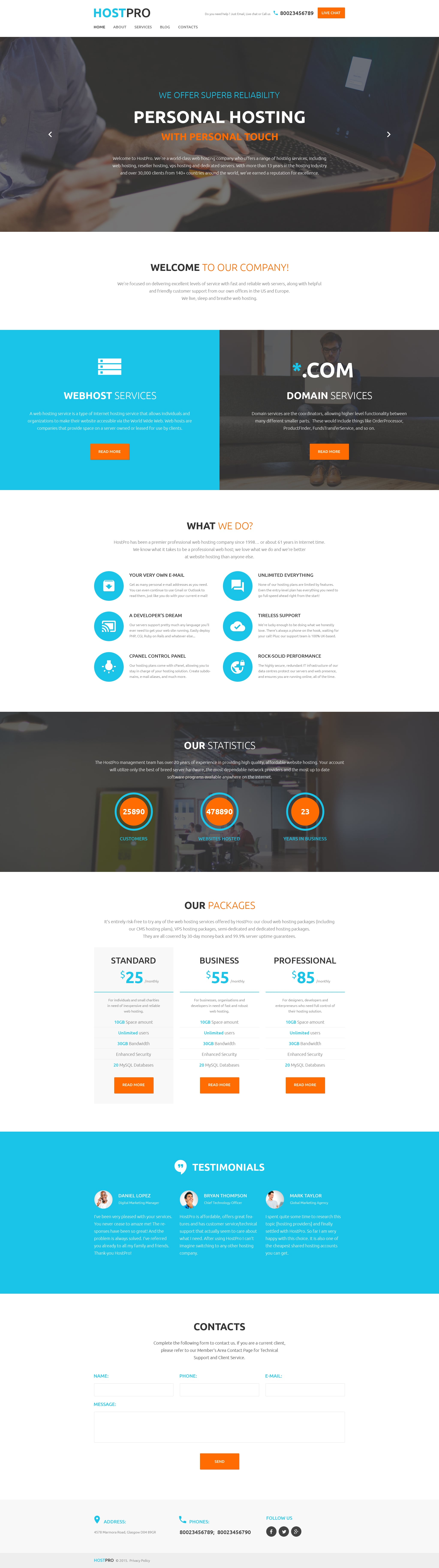 HostPro WordPress Theme