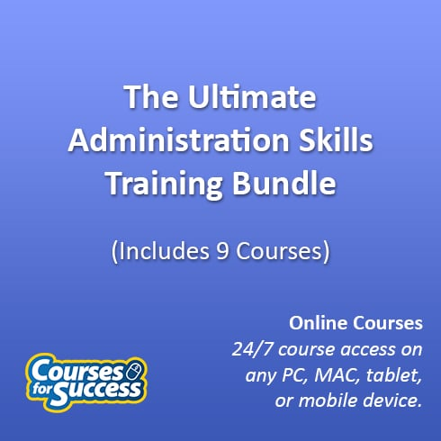 The Ultimate Administration Skills Training Bundle, 9 Courses