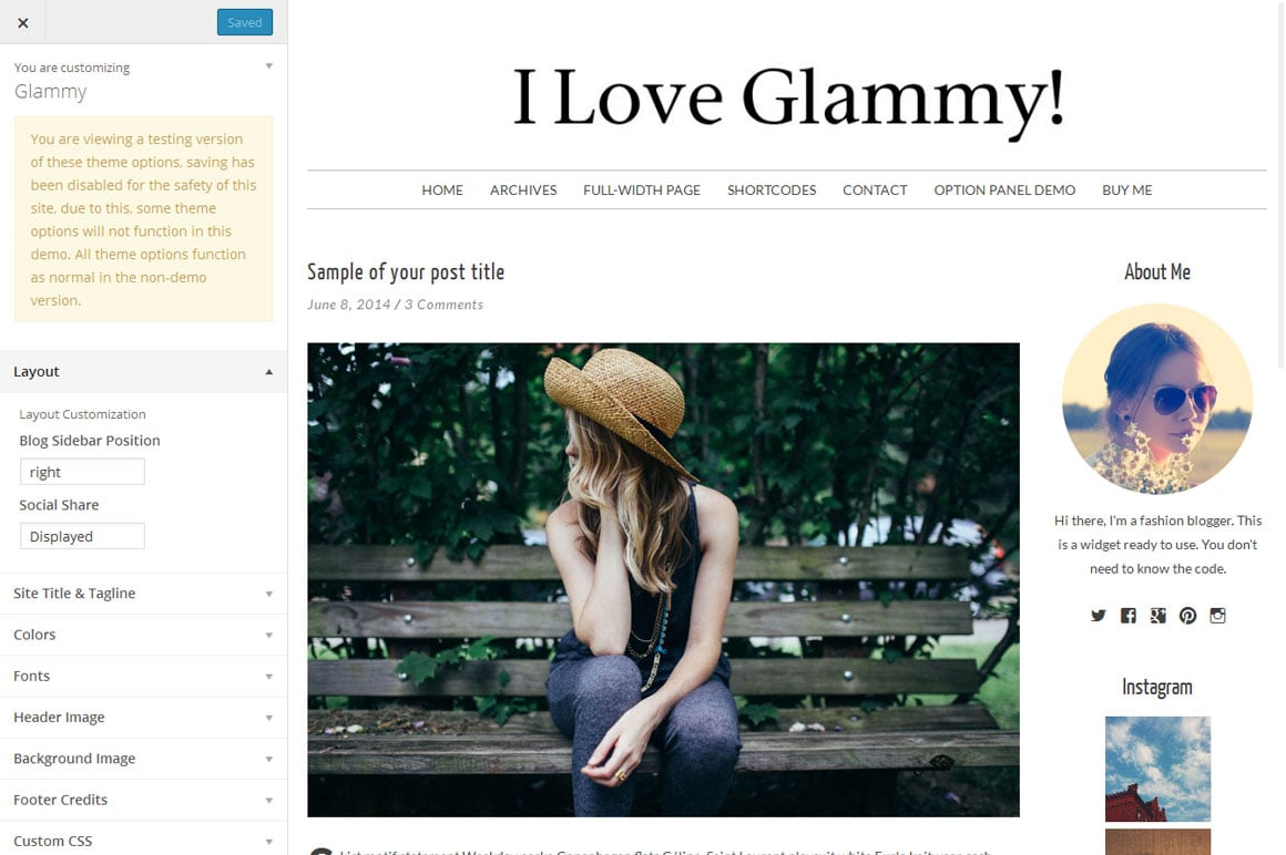 Glammy - Fashion Blog Theme