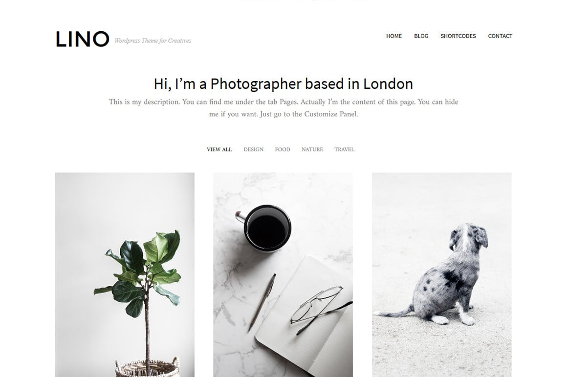 Lino - WordPress Portfolio Theme