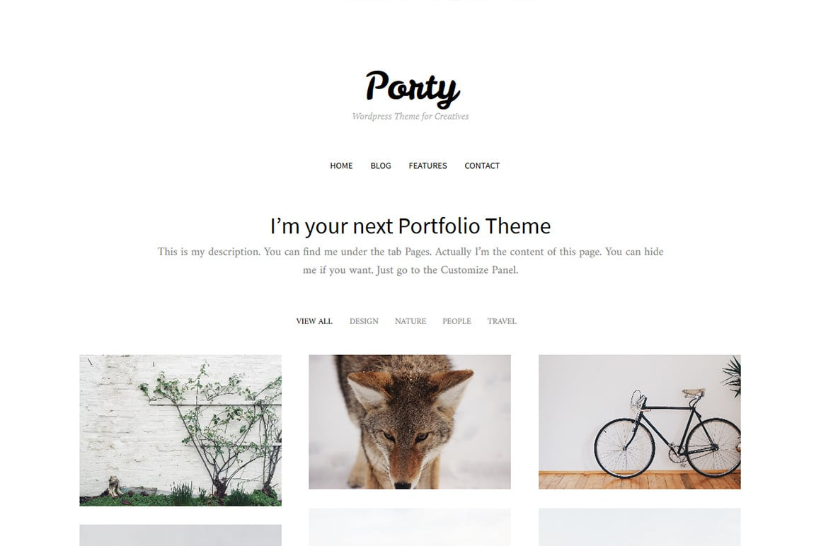 Porty - Portfolio WordPress Theme