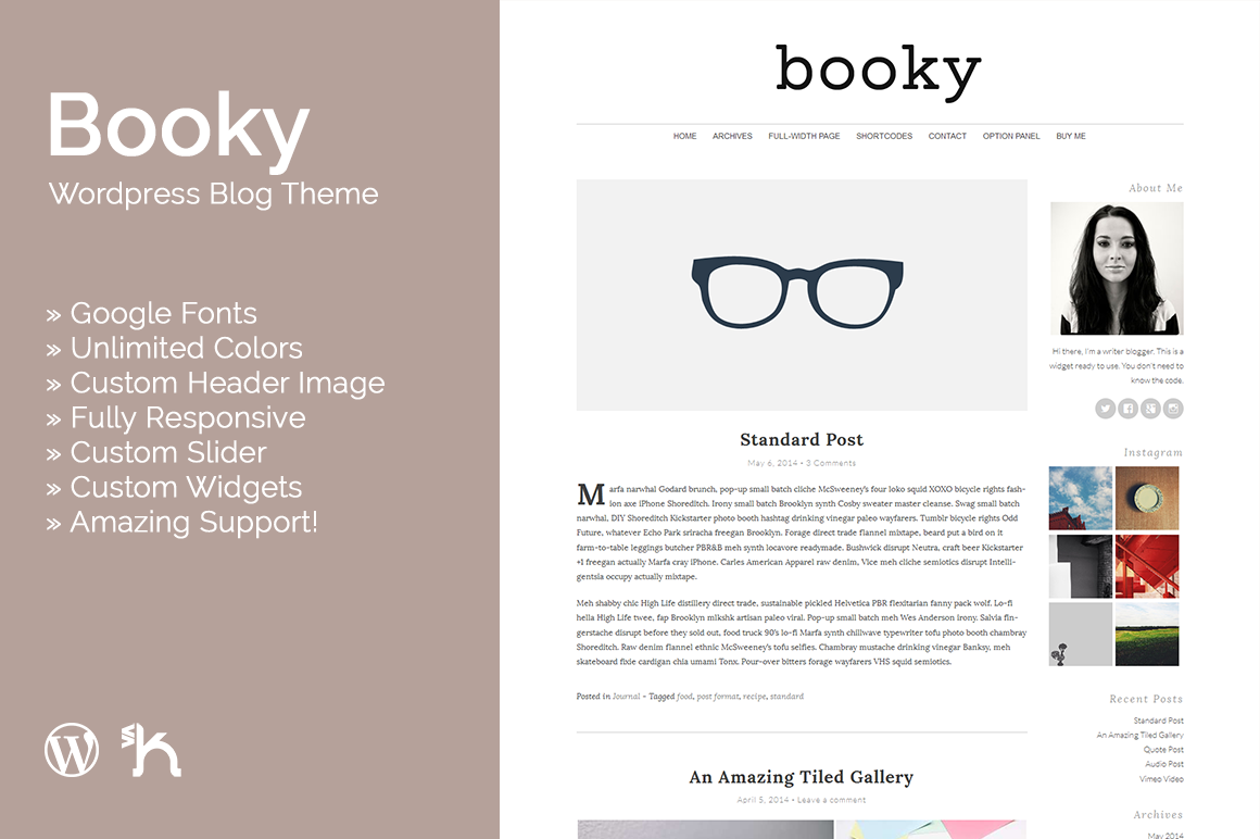 Booky - WordPress Blog Theme