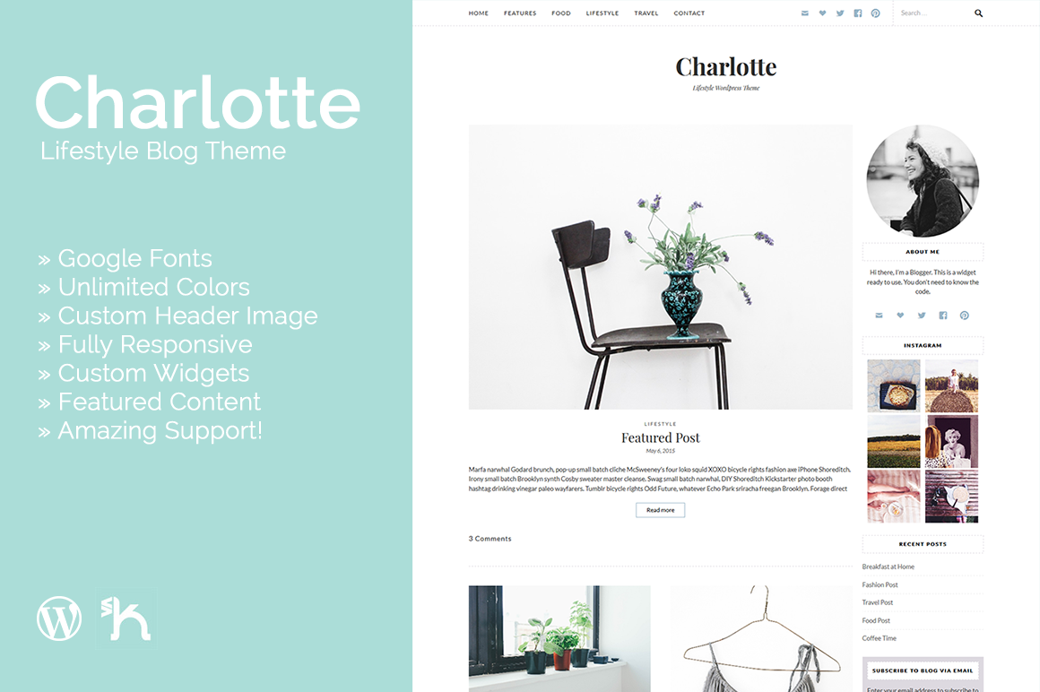 Charlotte - Lifestyle Blog Theme