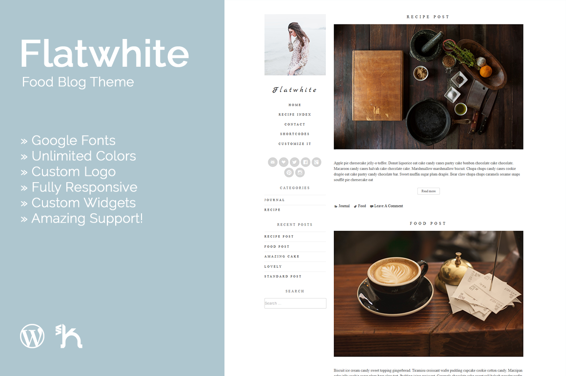 Flatwhite - Food Blog Theme