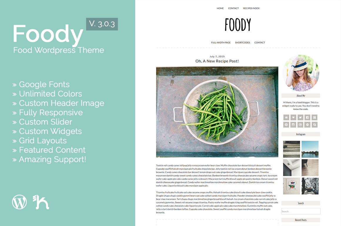 Foody - Food WordPress Theme [3.0.4]